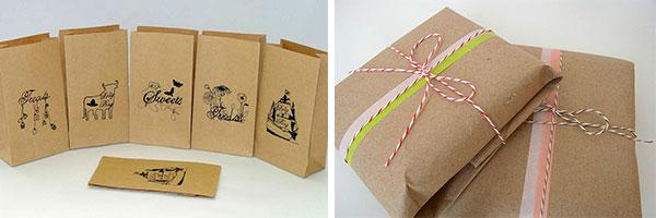 Способы упаковки подарка крафт бумагой