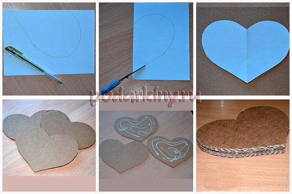 Изготовление основы для топиария в форме сердца