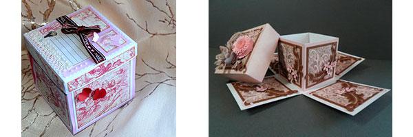 Открытка с сюрпризом из фотографий и картона