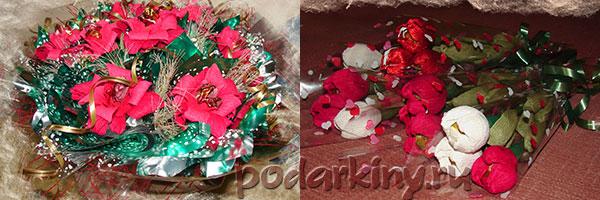 Букеты и тюльпаны из конфет