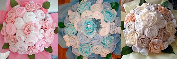 Розы в букете из полотенец