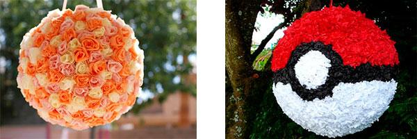 Две пиньяты в форме шара