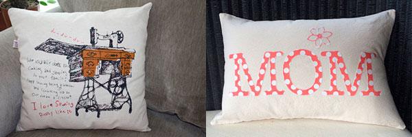 Две декоративные подушки, сшитые своими руками