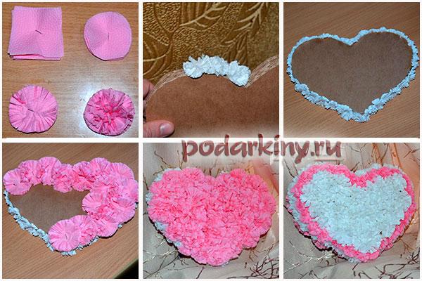 Как сделать цветок из салфетки и обклеить цветами основу для топиария