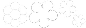 Второй шаблон цветов из войлока