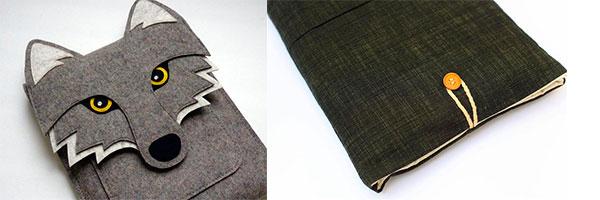 Чехлы ручной работы из фетра и джинсы