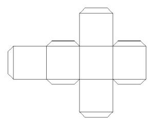 Шаблон для кубика из фотографий