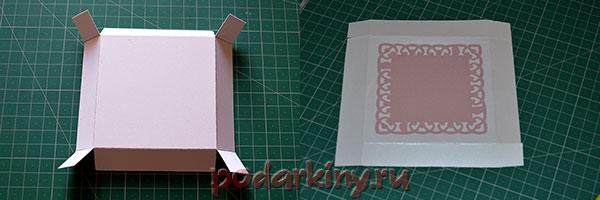 Заготовка для крышки коробочки с сюрпризом