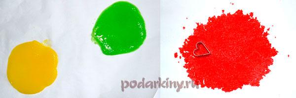 Разноцветная масса для сердечек из сахара