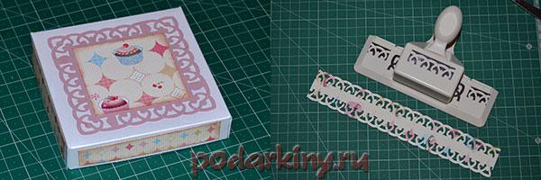 Крышка для коробочки и декоративное бумажное кружево