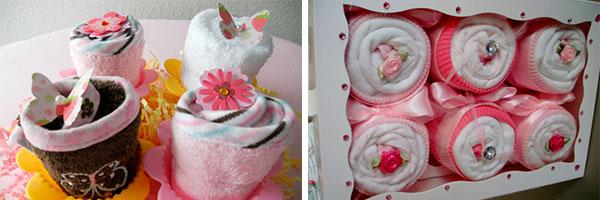 Идеи капкейков из полотенец