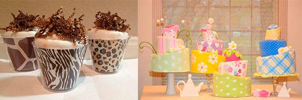 Мороженое и торты из полотенец
