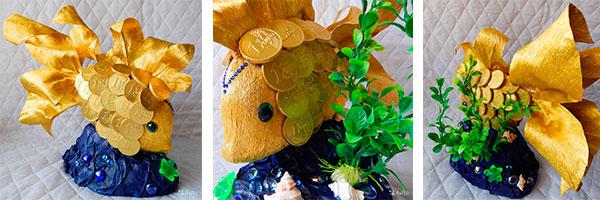 Золотая рыбка из денег