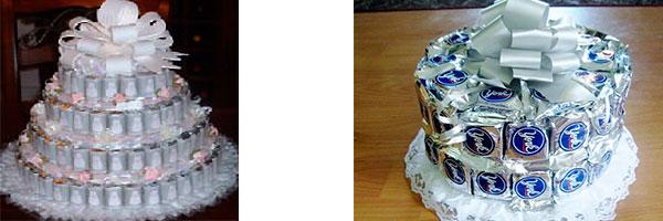 Два торта из конфет