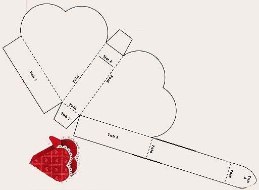 Как сделать сердечко из картона
