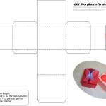 Схема коробочки с застежкой в форме бабочки