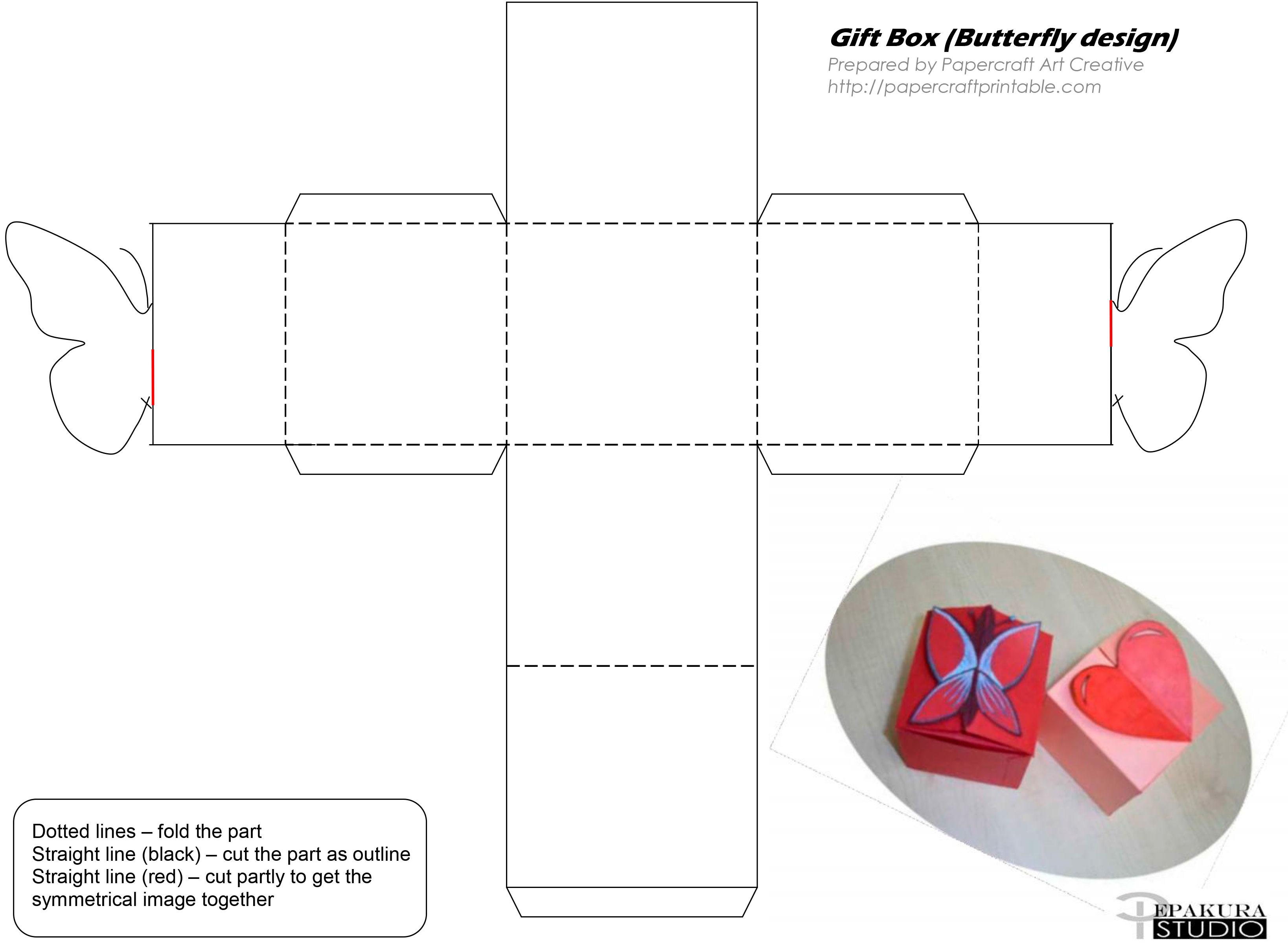 Коробка для подарка из картона схемы