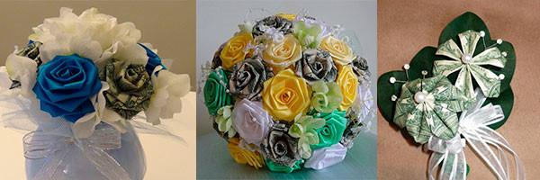 Букеты и цветы из денег