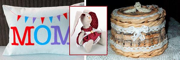 Идеи подарка для мамы - подушка, тильда и шкатулка