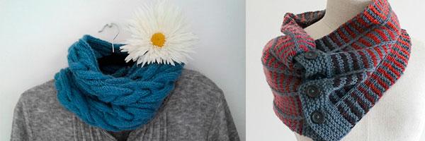 Два вязаных шарфа для мужчин