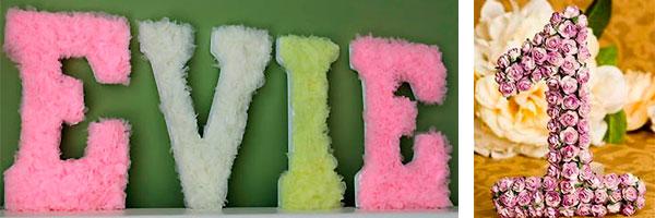 Как украсить буквы из бумаги своими руками