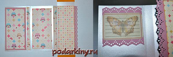 Декориурем шоколадницы бумагой для скрапбукинга
