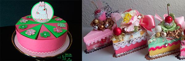 Тортик из картона с пожеланиями на новый год