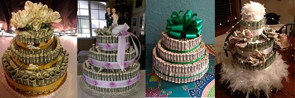 4 торта из денег