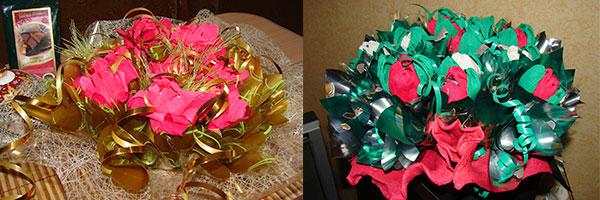 Образцы конфетных букетов