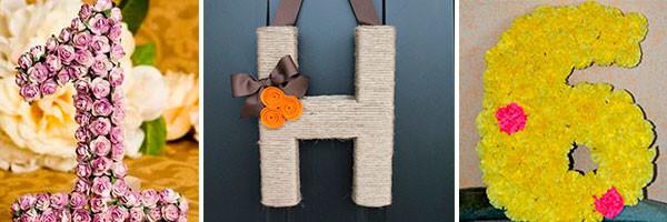 Декоративные буквы и цифры для праздника