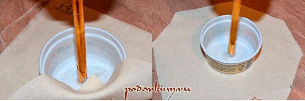 Посадка топиария из кофе в горшок