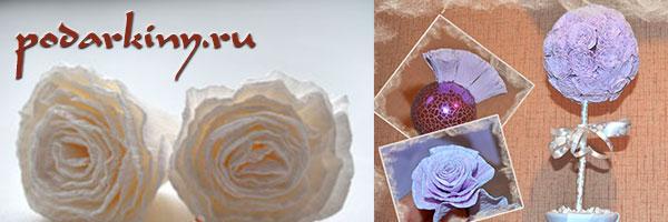 Топиарий цветочный шар из роз