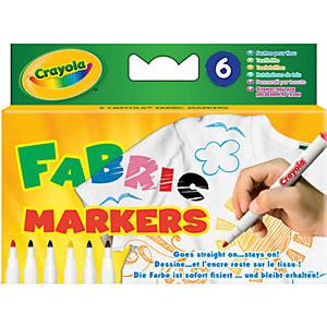 Маркеры по ткани Crayola