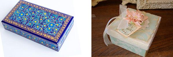 Две шкатулки из картона