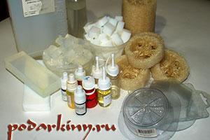 Материалы для изготовления мыла с люфой