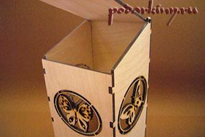 Заготовка чайного домика с бабочками из фанеры