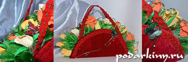 Сумочка из конфет - пошаговый мастер-класс по изготовлению