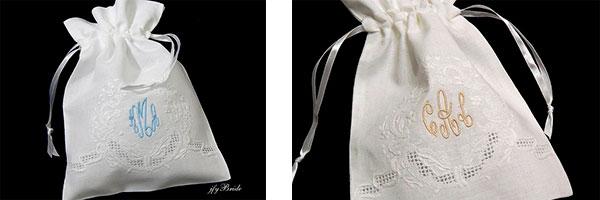 Мешочки для подарков, украшенные вышивкой