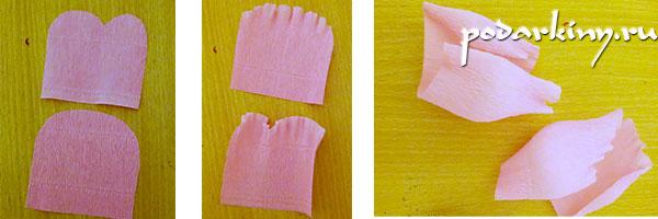 Изготовление бутонов роз из конфет своими руками