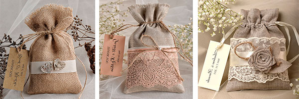 Мешочки для подарка из мешковины