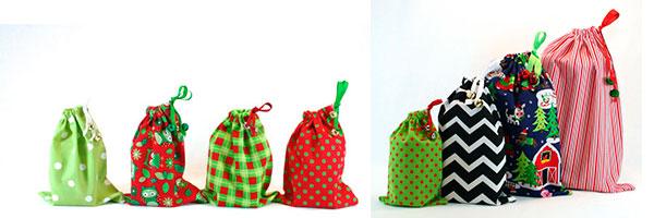 Мешочки для подарка из разных расцветок хлопка