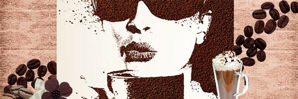 Портрет из молотого кофе