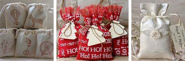 Мешочки для подарка: мастерим своими руками