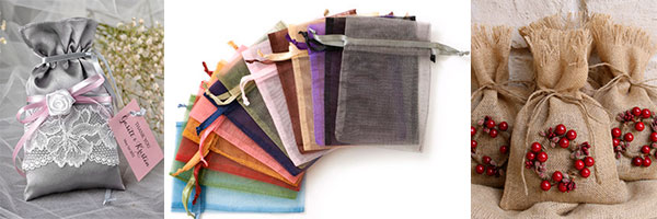 Мешочки для подарков из разных материалов
