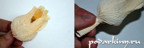 Подготовка основы для сумочки из конфет