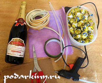 Материалы для мастер-класса по изготовлению ананаса
