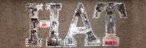 Буквы в виде фотоколлажа
