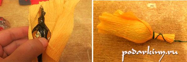 Изготовление роз из гофрированной бумаги