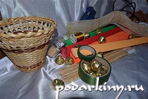 Материалы для изготовления осеннего конфетного букета