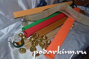 Материалы для изготовления цветов с конфетами